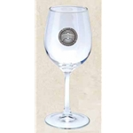 Wine Glass w/ Pewter Emblem 12 oz
