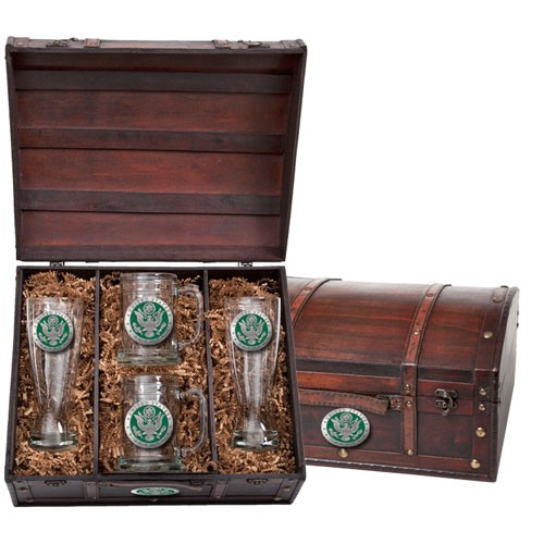 Army Beer Set w/ Chest - Enameled