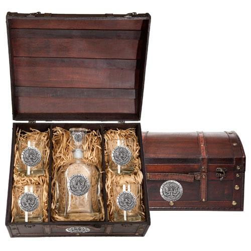 Army Capitol Decanter Set w/ Chest