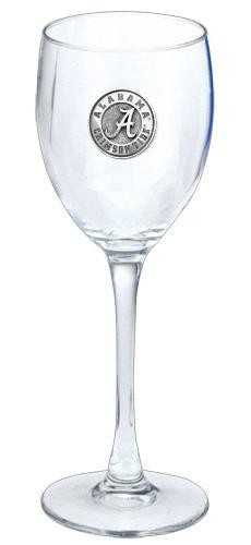 "Alabama ""A"" Crimson Tide Wine Glass"