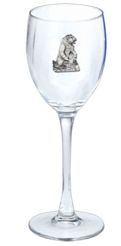 Grizzly Bear Wine Glass