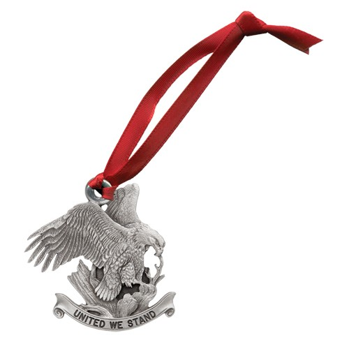 "Bald Eagle ""United We Stand"" Ornament"