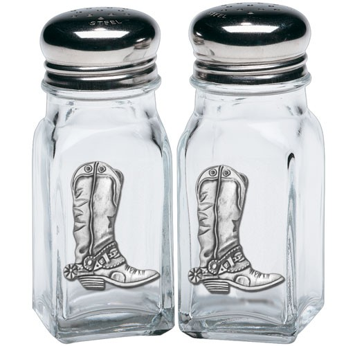 Cowboy Boot Salt and Pepper Shaker Set