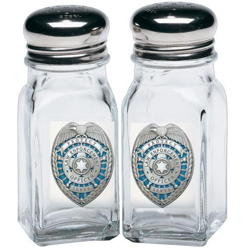 Law Enforcement Salt and Pepper Shaker Set - Enameled