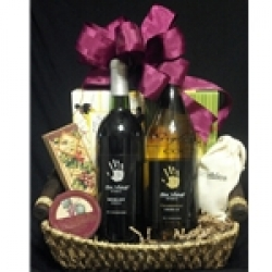 $50 Wine Gift Basket - White & Red Wine