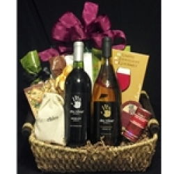 $75 Wine Gift Basket - White & Red Wine