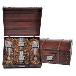 Texas Longhorn Bull Beer Set w/ Chest