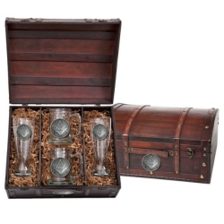 Masonic Square & Compass Beer Set w/ Chest