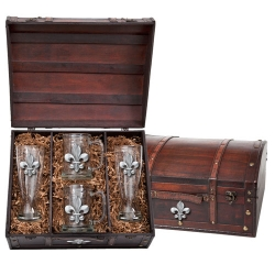 Fleur de Lis Beer Set w/ Chest