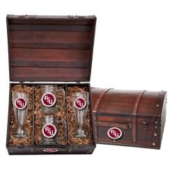 "Florida State University ""FSU"" Beer Set w/ Chest - Enameled"