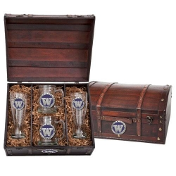 University of Washington Beer Set w/ Chest - Enameled