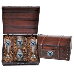 West Virginia University Beer Set w/ Chest - Enameled