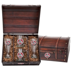 """Marine Corps """"Bulldogs"""" Beer Set w/ Chest - Enameled"""