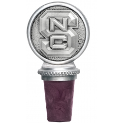 "NC State University ""Wolf Pack"" Pewter Bottle Stopper"