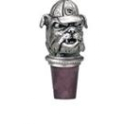 "University of Georgia ""Bulldogs"" Pewter Bottle Stopper"
