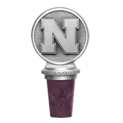 "University of Nebraska ""Cornhuskers"" Pewter Bottle Stopper"
