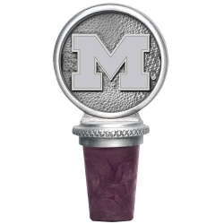 "University of Michigan ""Wolverines"" Pewter Bottle Stopper"