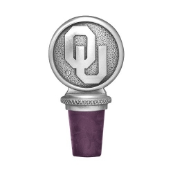 "University of Oklahoma ""OU"" Pewter Bottle Stopper"