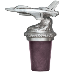 "Air Force ""F-16"" Pewter Bottle Stopper"