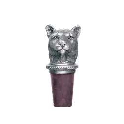 Mountain Lion Pewter Bottle Stopper