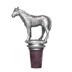 Racehorse Pewter Bottle Stopper