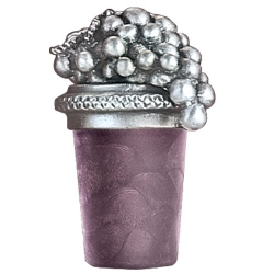 Grape Cluster Pewter Bottle Stopper