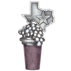 Texas Grapes Bottle Stopper