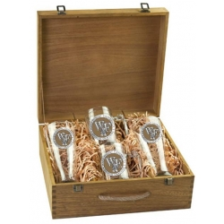 "Wake Forest University ""WF"" Beer Set w/ Box - Enameled"