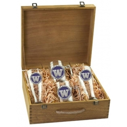 University of Washington Beer Set w/ Box - Enameled