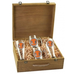 University of Miami Beer Set w/ Box - Enameled