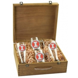University of Illinois Beer Set w/ Box - Enameled