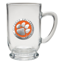 Clemson University Clear Coffee Cup - Enameled