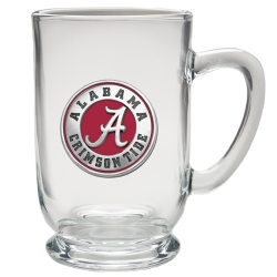 "Alabama ""A"" Crimson Tide Clear Coffee Cup - Enameled"