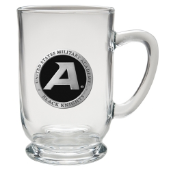 "Army ""Black Knight's"" Clear Coffee Cup - Enameled"