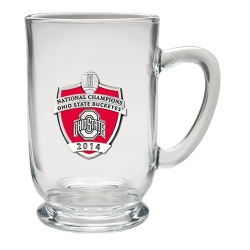 2014 BCS National Champions Ohio State Buckeyes Clear Coffee Cup - Enameled