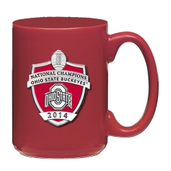 2014 BCS National Champions Ohio State Buckeyes Red Coffee Cup - Enameled