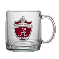 2015 CFP National Champions Alabama Crimson Tide Clear Coffee Cup - Enameled