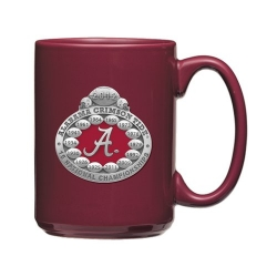2012 BCS National Champions Alabama Crimson Tide Burgundy Coffee Cup - Enameled