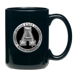 Appalachian State University Black Coffee Cup - Enameled