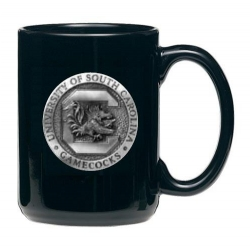 "University of South Carolina ""Gamecocks"" Black Coffee Cup"
