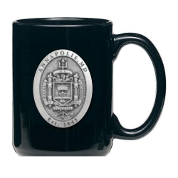 """Naval Academy """"Crest"""" Black Coffee Cup"""