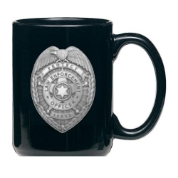 Law Enforcement Black Coffee Cup