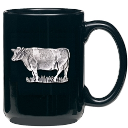 Cow Black Coffee Cup