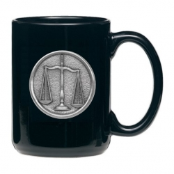 Law - Scales of Justice Black Coffee Cup