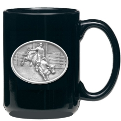 Bull Rider Black Coffee Cup