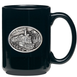 Train Black Coffee Cup
