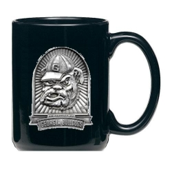 "University of Georgia ""Bulldog"" Black Coffee Cup"