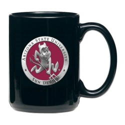 "ASU ""Sparky"" Black Coffee Cup - Enameled"