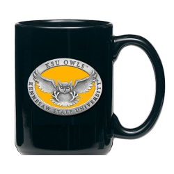 Kennesaw State University Black Coffee Cup - Enameled