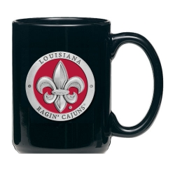 Louisiana at Lafayette Black Coffee Cup - Enameled